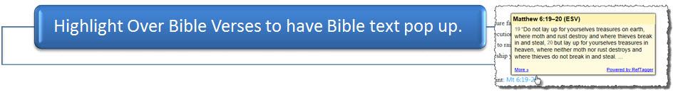 Popup Bible Verses