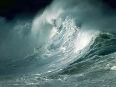 roaring sea